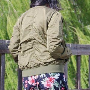 Jackets & Coats - Olive Bomber